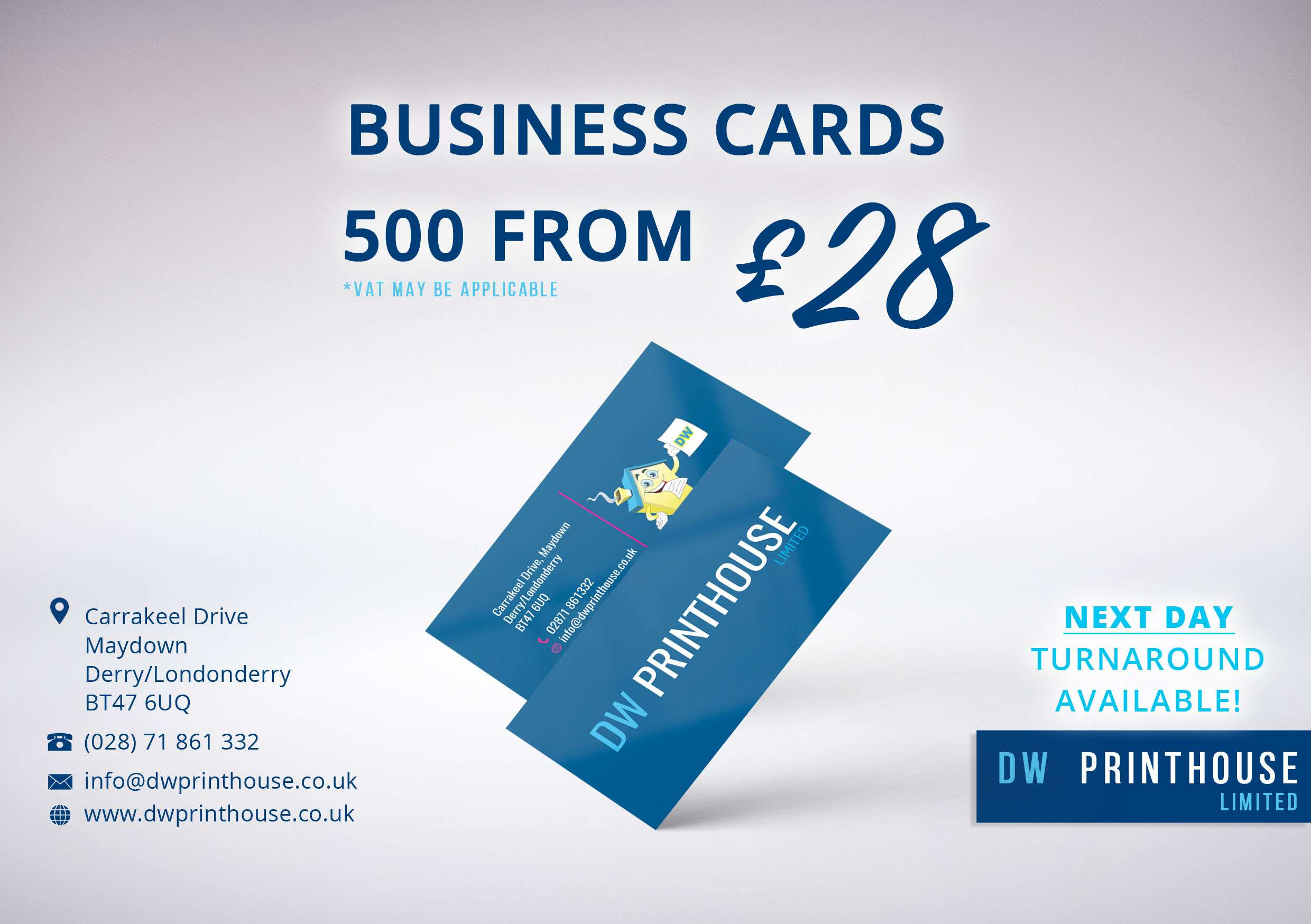 Cards design and print Londonderry